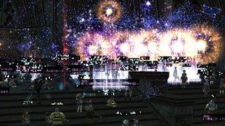 2007年記念ギラン神殿前花火