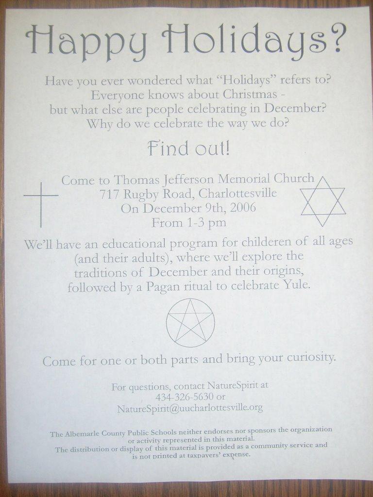 stylos: Happy Holidays? Pagan Evangelism