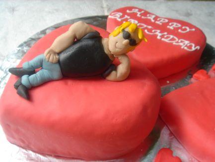 Johnny Bravo Birthday Cakes