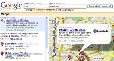 Pubblicita' in Google Maps