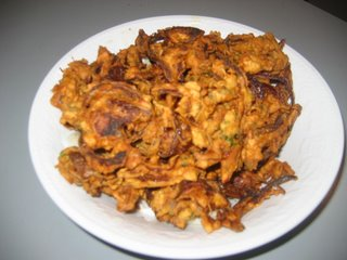 Onion Pakodas are with onion and good snack on rainy day