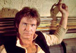 Picture: Han Solo sitting at the table in the Mos Eisly cantina