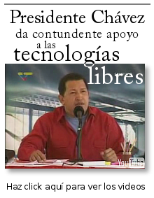 Presidente Hugo Chávez da respaldo al software libre y tecnologías libres