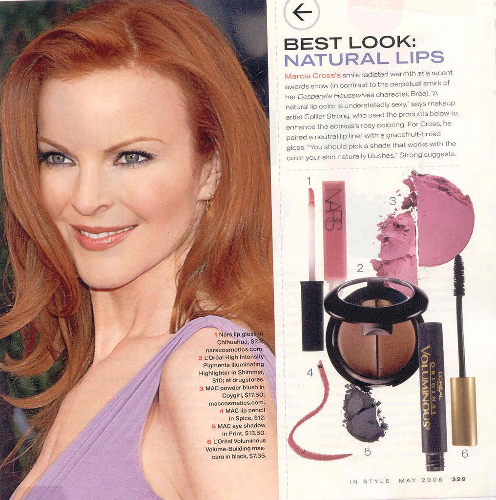 Style Notebook Friday Faces Marcia Cross