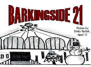 Christmas Barkingside 21 logo by Emily Radish aged 13