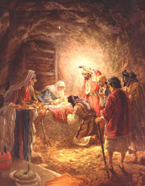 jesus in a manger christmas wallpapers