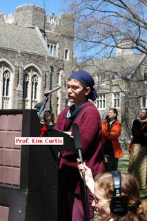 Prof. Kim Curtis at Potbanger rally