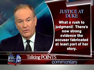 Bill O'Reilly - Fairness and Justice at Duke