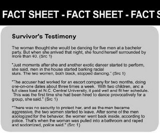 portion of misleading 'fact sheet' distributed at hanging parties