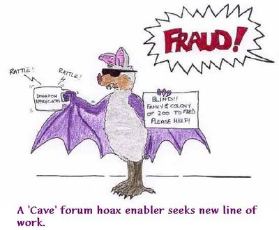 A Cave forum a/k/a TalkLeft hoax enaber seeks new line of work
