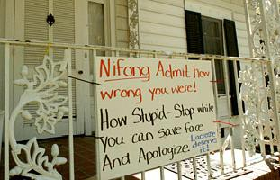 anti-Nifong sign