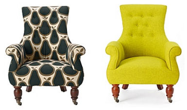 Couldnu0027t Resist  These Astrid Chairs In Orla Kiely Fabric And A Lovely  Chartreuse Wool Are Too Cute To Ignore. Throw In The White Dining Chair, ...