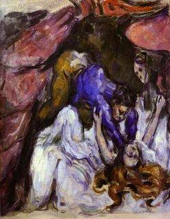 strangled woman - cézanne