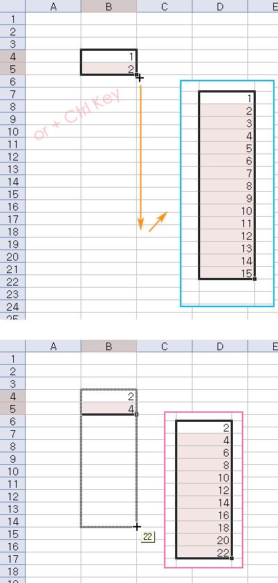 엑셀 숫자 자동 증가시키는 법