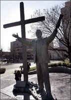 Another view of the Nashville statue of Billy Graham