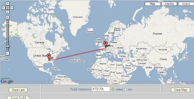 GIS Sites: Google Maps Distance Calculator on