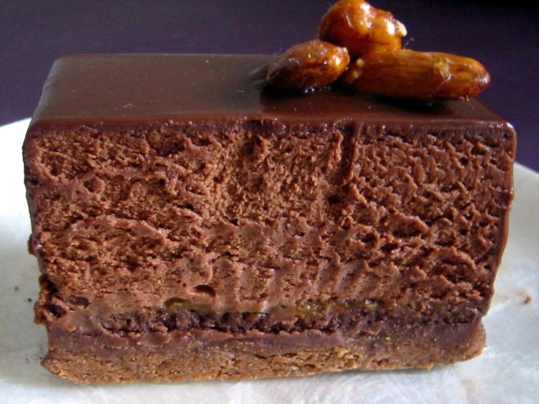 Gateau au chocolat mousse praline