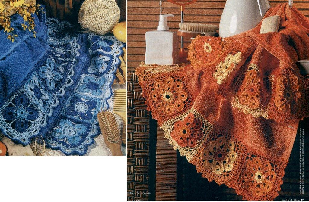 bom é que podemos comprar toalhas lisas e por apenas o croche