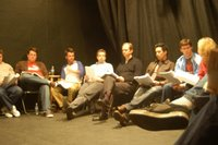 The actors/actresses reading Soul Catcher at the Two Roads Theater