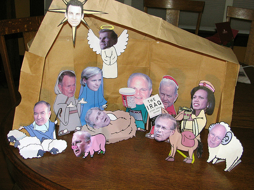 Image result for weird nativity sets