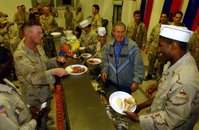 Bush Serving Food