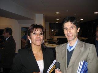 A filha de Matateu, Argentina, com Luís Silva do Ó. Foto:BGP