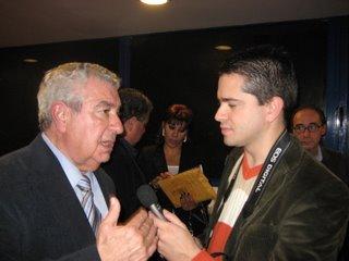 O autor do livro, Fernando Correia, entrevistado por Bruno Gonçalves Pereira