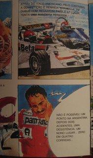 Retirado do livro de banda desenhada «Grande Premio F1» de Willy Richard e Mario Luini que retrata a temporada de 1977.