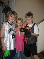 Car, Jakie and El help show off my Crocs