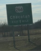 Exit here for Checotah