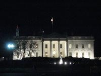 The White House, pic taken from Lafayette Park