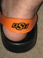 Donning my OSU Crocs