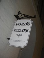 Ford's Theatre where Abraham Lincoln was shot. Jitney was showing.