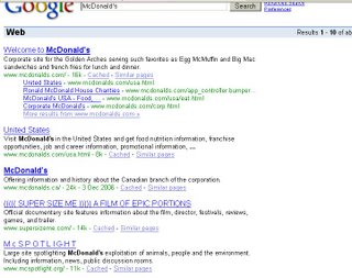 McDonald's Search Engine Reputation Management