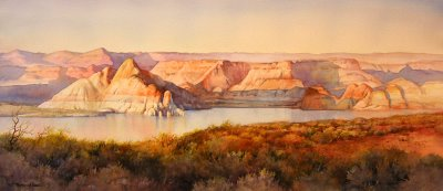 Lake Powell Panorama painting by Roland Lee