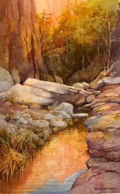 Photo of Roland Lee painting of Zion Canyon