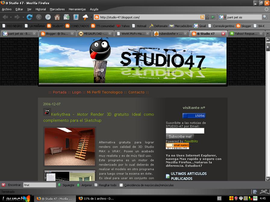 Studio 47: Captura pantalla desde Windows