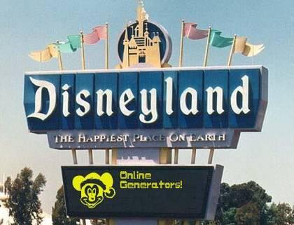 Disneyland Sign Generator