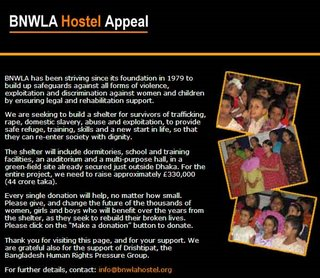 BNWLA Hostel appeal