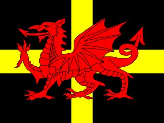 Welsh Dragon on Saint Davids cross.