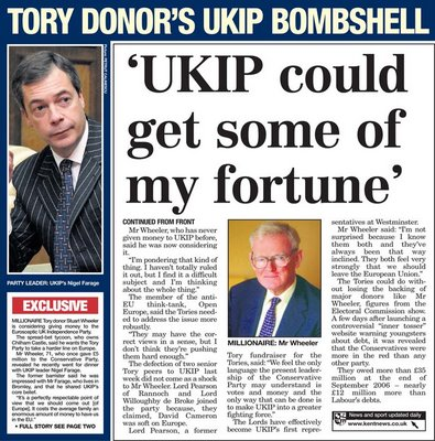 Millionaire Wheeler considers donating money to UKIP