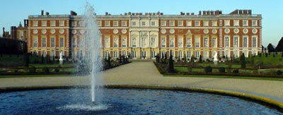 Hampton Court from the East Front Gardens