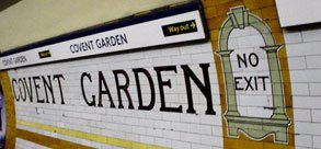 tiles at Covent Garden station