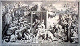 Reis Magos, desenho de Nicola Ortis, gravura de Nicola Sangiorgi