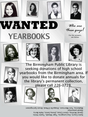 Wanted yearbooks flyer