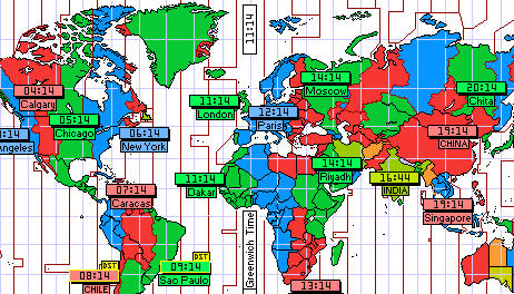 World Time Clocks - Visual Guide to Time Around the World