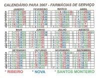 Calendário das Farmácias de Serviço em Vendas Novas