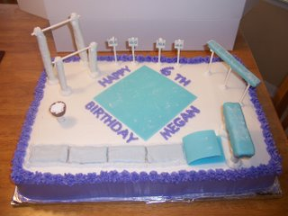 gymnastics birthday cake