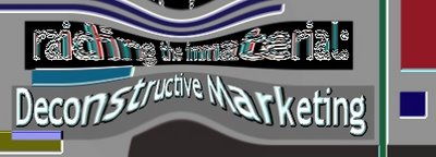 raiding the immaterial: deconstructive marketing logo