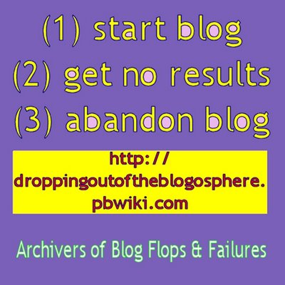 start blog, get no results, abandon blog